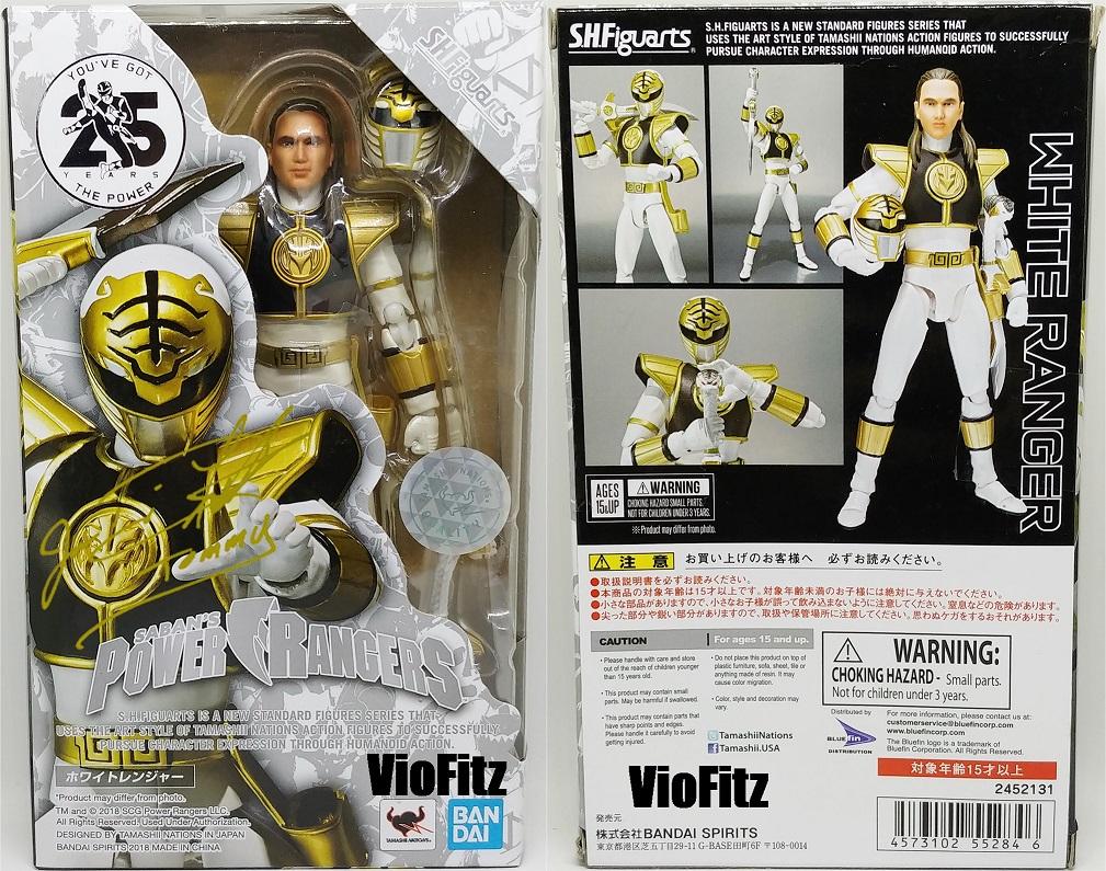 Bandai SH S.H Figuarts Morphin Power Rangers White Ranger Action Figure USA